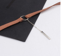 Wholesale South Korea velvet wide bind deserve to act the role of one word chain pendant necklace clavicle