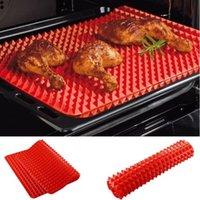 baking sheet pans - Creative Useful Pyramid Pan Silicone Non Stick Fat Reducing Mat Microwave Oven Baking Tray Sheet Kitchen Tool