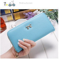Wholesale 2017 New Fashion Lady Women Clutch Leather Long Wallet Card Holder Purse Handbag Bag