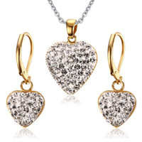 Wholesale Shardon fashion Stainless Steel African Beads Jewelry Set Yellow Color Gold Plated Jewelry have in stock