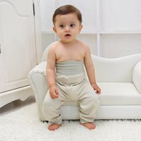 Wholesale Autumn New Natural Organic Cotton High Waist Nursing Infant Baby Lovely Belly Pants Package Mail