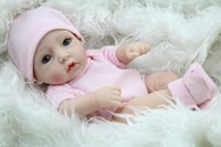 Wholesale 10Inch Lying And Sitting Reborn Baby Doll Full Silicone Baby Alive Doll Lovely Princess Girl Wearing Sweet Clothes Look Genius free DHL