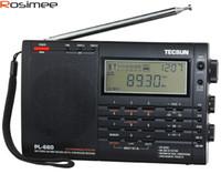 achat en gros de tecsun radio-Vente en gros-Nouveau TECSUN PL-660 Radio PLL SSB VHF bande AIR Récepteur radio FM / MW / SW / LW Radio Multibande Double conversion