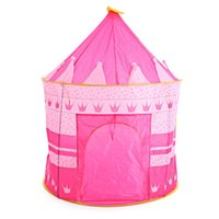 Wholesale Portable Children Kids Play Tents Outdoor Garden Folding Toy Tent Play House Boys Girls Castle Indoor House Kid Tents Xmas Gifts