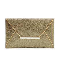 acrylic file holders - 2016 The New women Clutch File Package Sequins Envelope Package File Holder Cross Section Square Evening Bags Package