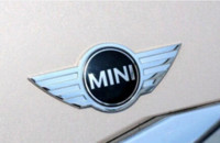 Wholesale 2015 batang Car Rear metal Kembali D Self Adhesive Logam Emblem Sticker Chrome MINI COOPER sR30