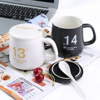 Wholesale The couple Mug coffee cup milk cup with lid and spoon