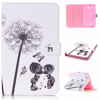 For Samsung Fashion 9.7'' Cartoon Owl Flower Leather Case Stand For Samsung Galaxy Tab E 8.0 T377 A 10.1 T580 9.7 T550 T560 Tab4 T530 tablet Tower Pouch Cover 1pcs
