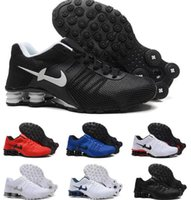 Wholesale 2016 Shox Current Air Cushion Running Shoes Mens White Gold Black Shox NZ Trainers Sneakers Shoes Sport Shox Shoes Size