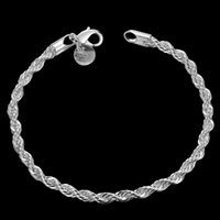 Wholesale H207 Latest Classy Design for women men Fried Dough Twists silver plated bracelet Factory Direct Sale best ornaments for party