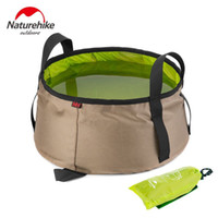 Wholesale NatureHike L Water Washbasin Ultralight Portable Outdoor Nylon Folding Wash Bag Foot Bath Camping Equipment Travel Kits