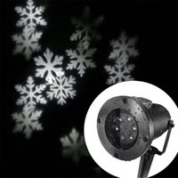 ac white moving - Waterproof Moving Snowflake Spotlight LED Projector Light Xmas Decorative Light for Indoor and Outdoor Use White