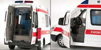 Wholesale The ambulance toy model car children toy car back in acousto optic bread ambulance alloy models