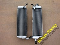 Wholesale 40MM CORE ROW aluminum alloy radiator For Honda CR500R water box motorcycle replacement parts engine cooling parts