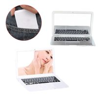 Wholesale Fashion Creative Macbook Air Style Makeup Mirror Mini Apple Notebook Make Up Cute Portable Cosmetic Mirrors