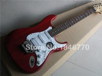 Wholesale New Scalloped rosewood Fingerboard Yngwie Malmsteen signature Strato red electric Guitar Big Head ST Guitar