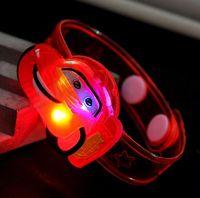 achat en gros de lueur jouets pour les garçons-21 style choisir chaud mignon dessin animé LED Watch Toy Girls filles Flash Wrist Band Party décoration de Noël Glow Luminous Bracelets