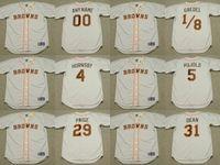 achat en gros de albert pujols jersey-2017 Hommes St. Louis Browns ROGERS HORNSBY ALBERT PUJOLS SATCHEL PAIGE DIZZY DEAN EDDIE GAEDEL Maillots de baseball