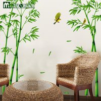 bamboo sofa set - Hot Style Popular TV Setting Wall Room Sitting Room Sofa Decorate Wall Stickers Chinese Wind Stick Bamboo Forest Depths