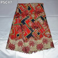 african cloth patterns - Plants Pattern Wax Cloth Lace New Embroidery African Switzerland Nigerian Lace Fabrics High Quality Cotton PSC47