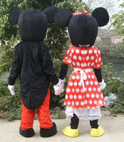 Nuevo traje adulto de la mascota del traje de Mickey y de Minnie Mouse del traje de la ropa del partido