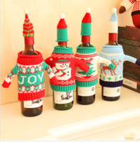 best holiday wines - Christmas Party Wine Bottle Cover Cap Holiday Elk Tree Snowman Santa Decoration Your Best Choice