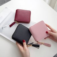 Wholesale 2016 Best Genuine Leather Wallet Zipper Purse Short Handbag Bag Colors For Woman Lady gift