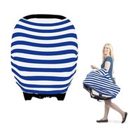 Wholesale Azo free multi function stretchy knitting stripe fabric highchair cover in uses baby seat car cover