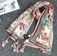 Wholesale Women scarves fashion cotton and linen scarves printing and manual scarves spring and autumn