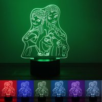 bedroom colours - Frozen Sister D Night Light LED Lights Colours Changing USB For Study Bedroom Bedside Lamp Factory Direct rm