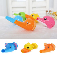 Wholesale Animal Elephant Dolphin Shape Faucet Extender Lovely Type Baby Kids Washing Hand Water Tap Faucet Extender