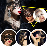 bars uppers - New hollow out fashion lace masks upper face Hollow sexy party masks dance Mysterious masks Nightclub bar mask A0186