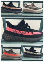 Wholesale 5 color V2 quality right version V2 black red kanye west shoes running shoes man running shoes size36