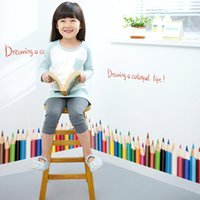 baseboard styles - QT DIY Home Decorative Creative Pencil Baseboard Wall Stickers For Kids Rooms Waterproof Wallpapers Mural All match Style