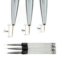 Wholesale 7 mm Nail Brush Nylon Pen Manicure Nail Liner Tools Crystal Acrylic Nail Art Brushes UV Gel Painting Line Brush