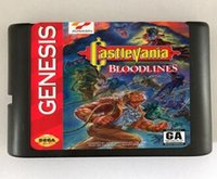 Wholesale MD Game card Games Cartridge Castlevania Bloodlines only NTSC U Available For bit Sega MegaDrive Genesis Sega Game console