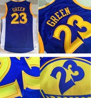 Men au basketball - 2017 Draymond Green Road New Material AU Edition New Embroidery Logos Blue Basketball Jerseys For Men