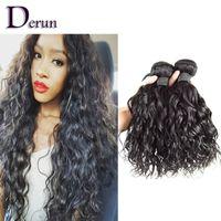 Wholesale 100 Virgin Brazilian Peruvian Indian Malaysian Human Hair Weave Natural Wave Mix Bundles Hair Extension Unprocessed Human Hair Wefts