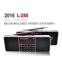 Wholesale L Mini Portable Rechargeable Stereo FM Radio Speaker LCD Screen Support TF Card USB Disk MP3 Music Player Loudspeaker
