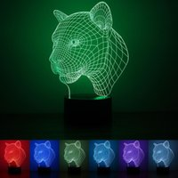animal lamps for sale - 1 W Leopard D LED Night Light Acrylic Color Changing Bedroom Decorative Table Lamp For Feast Day Hot Sale rm