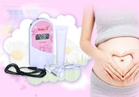 Wholesale 2 MHz Fetal Doppler Fetal Heart Monitor with LCD display Gel Pink