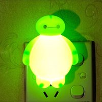 Wholesale Creative energy saving luminous lamp plug bedroom bedside lamp baby infant LED light sensing