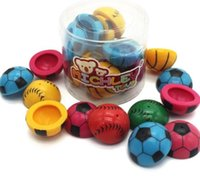 Wholesale MICHLEY quot Baby Girls Boys Poppers Half Bouncing Balls Pattern of Football Sport Toys ZJ