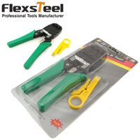 Wholesale Flexsteel in Multi Network Crimping Tool RJ45 RJ11 RJ12 Wire Caxial Cable Crimper Stripper Crimping Pliers