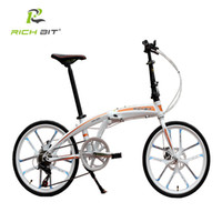 Wholesale RichBit New quot Mini Folding Bike Quick Release Folding Bicycle Mechanical Disc Brake Folding City Cycling With Integrated Rim