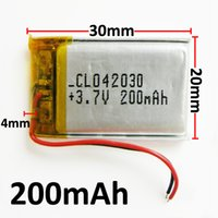 Wholesale 3 v mAh LiPo Li polymer Rechargeable Battery with Protect borad power For mini speaker Mp3 bluetooth Recorder headphone headset