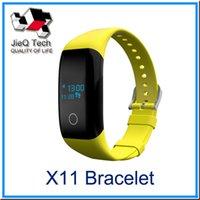 Acheter Enfants podomètre bracelet-X11 smartband Bluetooth 4.1 Rappel d'appel Smart Wristband Fitness Tracker Podomètre Bracelet Affichage OLED Android iOS DHL gratuit