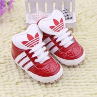 Wholesale 2017 NEW Baby PU Leather Shoes Infants Girl Boy Soft Sole Sneakers First Walker