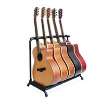 Wholesale 2016 New Guitar Stand Holder Folding Stand Rack Band Stage Bass Acoustic Guitar Universal Guitar Bracket