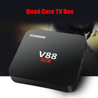 1GB 8GB Black Quad core RK3229 Android 5.1 V88 4K Boxes Android OTT TV Box Media Player support Kodi Wifi HDMI android tv box